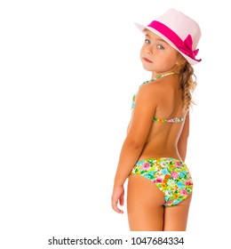 Cute Baby Girl Swimwear Bikini Bathing Suits with Hat