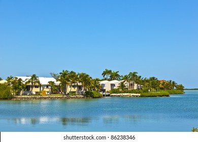 beautiful living area in the Keys at the waterfront