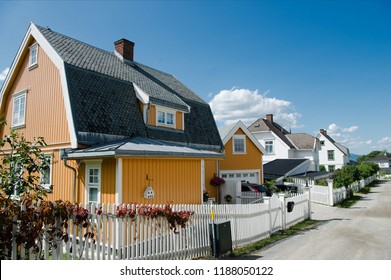 beautiful living houses in Lillehammer, Oppland, Norway