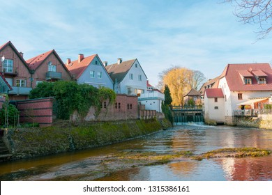 beautiful living at the moat of the watermill in Gemen.