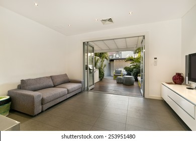 Beautiful Living room Architecture Stock Images