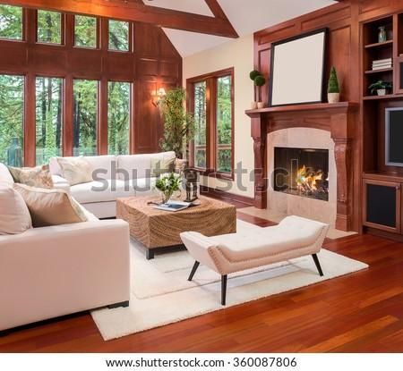 Beautiful Living Room Interior Hardwood Floors Stock Photo Edit Now Interesting Hardwood Floors Living Room Exterior