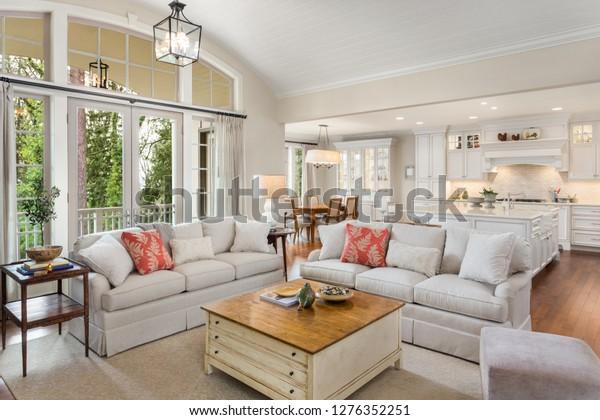 Beautiful Living Room Kitchen Dining Room Stock Photo Edit