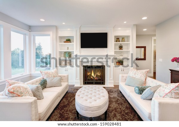 Beautiful Living Room Luxury Home Stock Photo (Edit Now ...