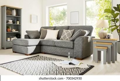 Beautiful living room with sofa