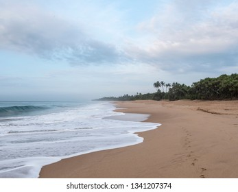 beautiful lonely beach at Hungama, Shri Lanka