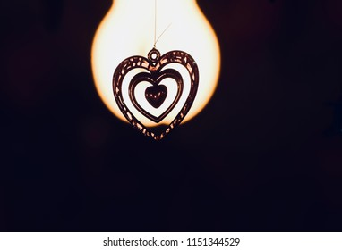 Beautiful love shape hanging showpiece object isolated unique photo