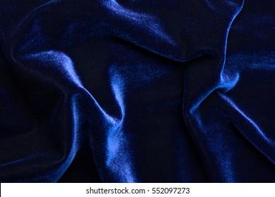 Beautiful luxury dark blue velvet texture background cloth.