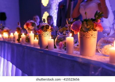 Beautiful luxury decor with candles