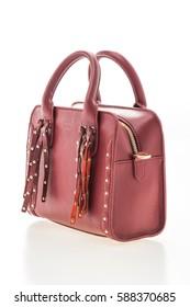 Beautiful luxury and elegance woman handbag isolated on white background
