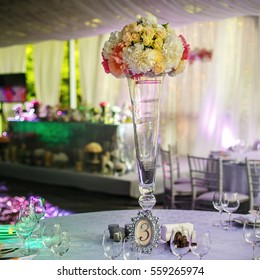 Beautiful luxury flower bouquet on the table