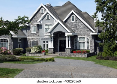 stone house front images