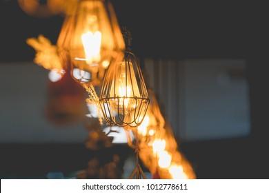 Beautiful luxury retro edison light bulb decor