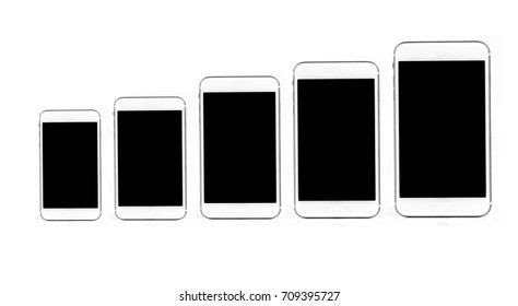 Beautiful luxury white Smartphone isolated on the white background