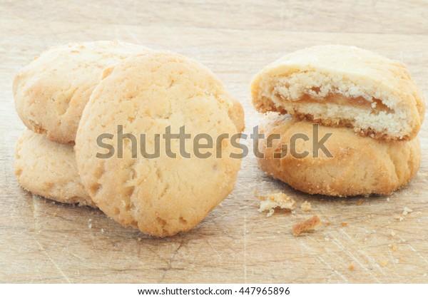 beautiful macro of natural and tasty  cookies