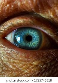 Beautiful macro shot of a blue eye