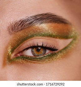 Beautiful make up closeup macro