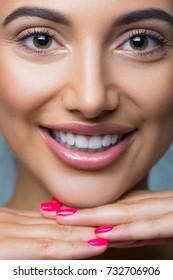 Beautiful makeup closeup