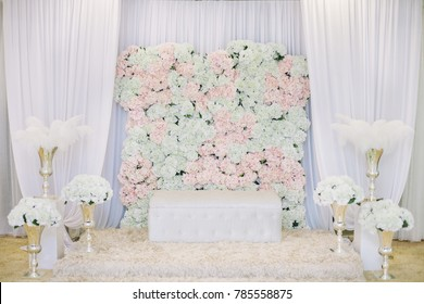 A beautiful Malay wedding dais or pelamin decoration.