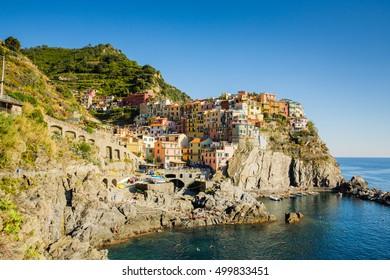 Beautiful Manarola, little village in Cinque Terre (Liguria, Italy)