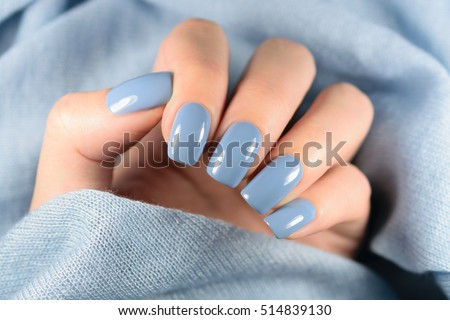 Beautiful Manicure Nail Polish Being Applied Stock Photo (Edit Now ...