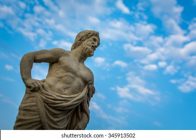Beautiful marble sculpture of ancient greek god