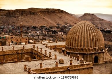 Beautiful Mardin old city landscape from Zinciriye Madrasah.Mardin is a historical city in Southeastern Anatolia, Turkey.
