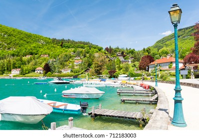 beautiful marina in Talloires at Lake Annecy, France