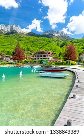 beautiful marina in Talloires on Lake Annecy in France