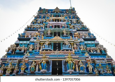 beautiful marudhamalai murugan temple tower view