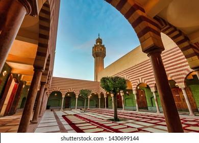 Beautiful Masjid iin Dammam inside view. City Dammam, Saudi Arabia photo taken month of November 02 year 2018.
