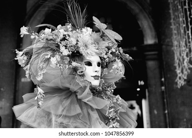 Beautiful mask in carnival of Venice.
