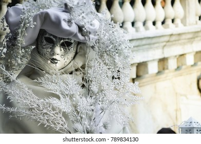Beautiful mask at a Carnival in Venice, Italy