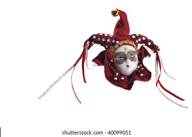 beautiful mask of Venetian carnival