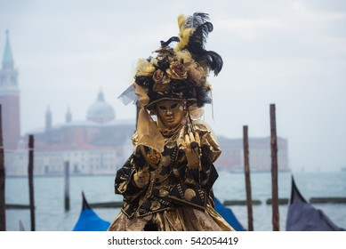 Beautiful masks at carnival in Venice,Italy