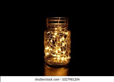 Beautiful Mason Jar Fairy Light in the Dark