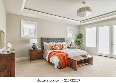 Beautiful Master Bedroom in New Luxury Home