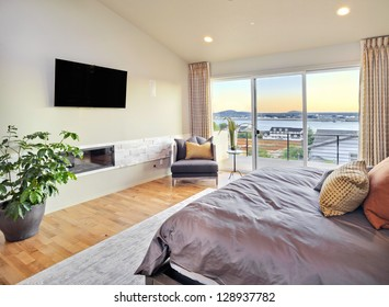 Beautiful Master Bedroom with View