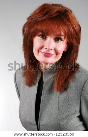 Hair mature red