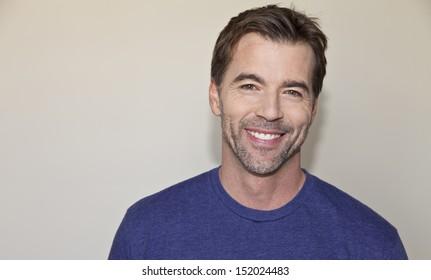 Beautiful mature man smiling