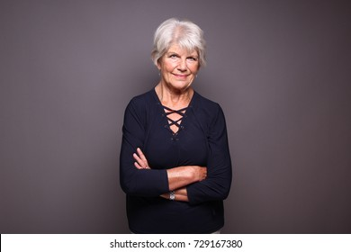 Beautiful mature woman being happy