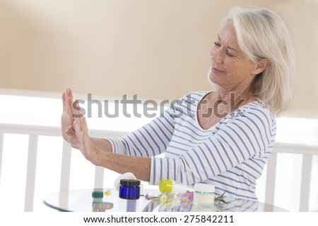 Her mature hands