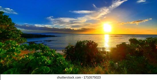beautiful maui landscape ocean view