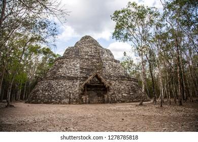 Beautiful Mayan pyramid in Coba, Mexico