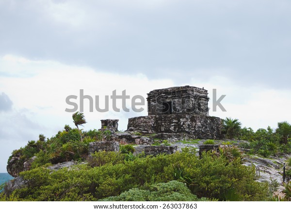 The beautiful Mayan ruins in Tulum Mexico