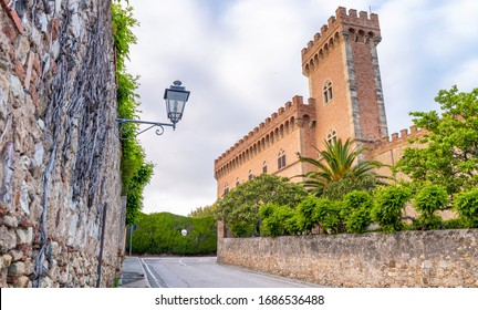 Beautiful medieval architecture and buildings of Bolgheri - Tuscany.