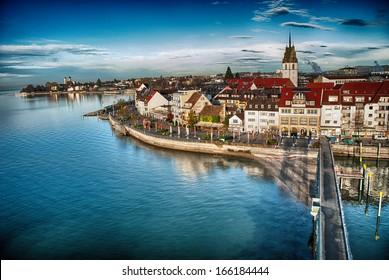 Beautiful medieval architecture in Friedrichshafen - Germany.