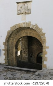 Beautiful medieval archway in Motovun, Istra, Croatia