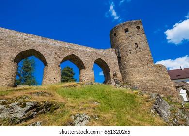 Beautiful medieval castle Velhartice in Bohemian Forest - Sumava mountains, Czech Republic