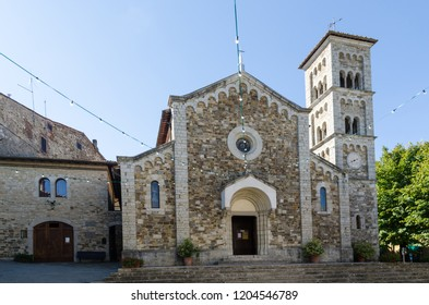 Beautiful medieval church, a landmark in Castellina in Chianti, Tuscany, Italy